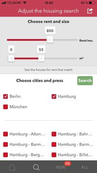 Housing rentals in Germany apk screenshot