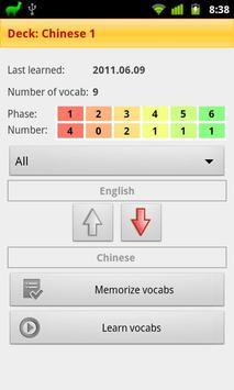 Vocablo 2 vocab trainer Free apk screenshot