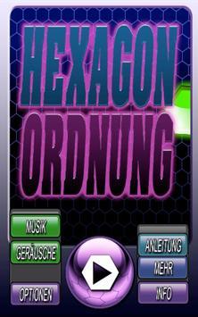 Hexagon Ordnung Gratis poster