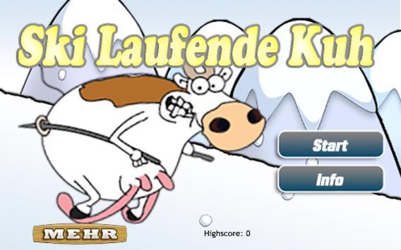 Die Ski Laufende Kuh Gratis poster