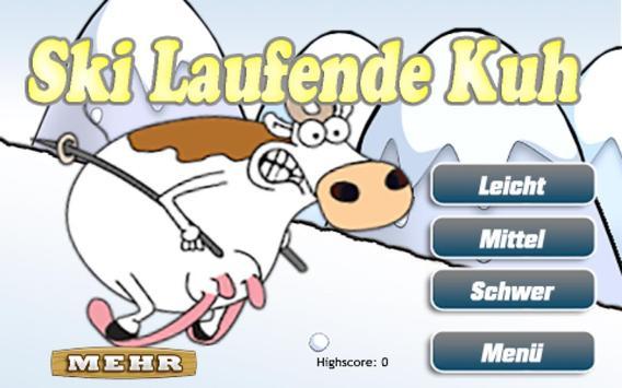 Die Ski Laufende Kuh Gratis apk screenshot