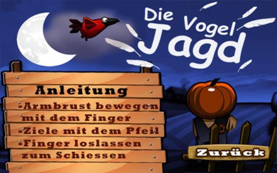 Armbrust Vogel Jagd Gratis screenshot 1
