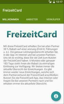 FreizeitCard apk screenshot
