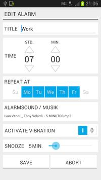 MP3 Music Alarm apk screenshot