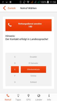 Reise-Notruf-Service apk screenshot