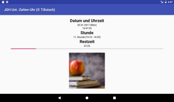 JGH Unterrichtszeitenuhr screenshot 3