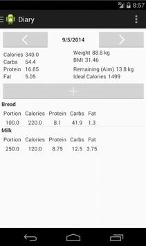 Nutrition Diary poster