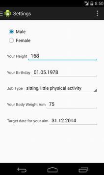 Nutrition Diary apk screenshot