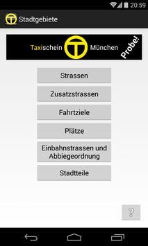 Taxischein München Probe apk screenshot