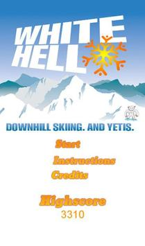 White Hell Downhill Skiing poster