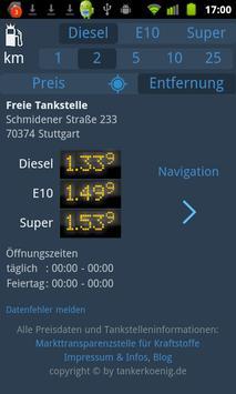 Tankerkönig Spritpreis screenshot 1