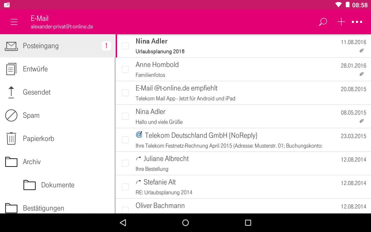 Beschwerde Telekom Mail