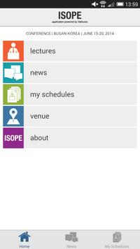 ISOPE Conference App poster