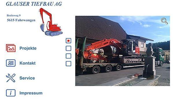 Glauser Tiefbau AG screenshot 1