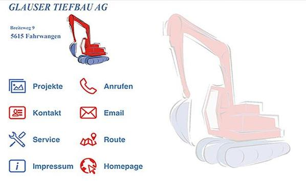 Glauser Tiefbau AG screenshot 2
