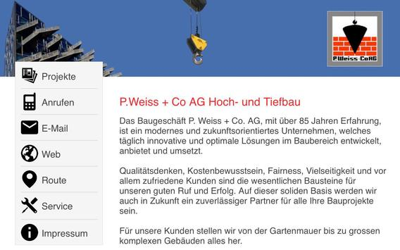 P. Weiss + Co. AG screenshot 2