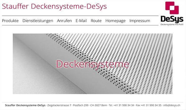 Stauffer Deckensystem DeSys poster