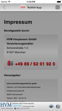 Notfall-App - HVM Hauptmann apk screenshot
