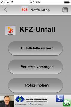 Notfall-App - Thomas Hansmann apk screenshot