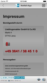 Notfall-App - LIEBLINGSMAKLER apk screenshot