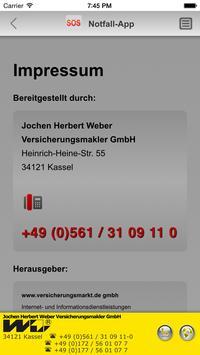 Notfall-App - Jochen H. Weber apk screenshot