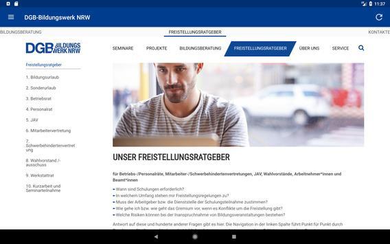 DGB-Bildungswerk NRW Seminare screenshot 11