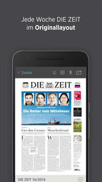 DIE ZEIT E-Paper App poster