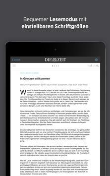 DIE ZEIT E-Paper App apk screenshot