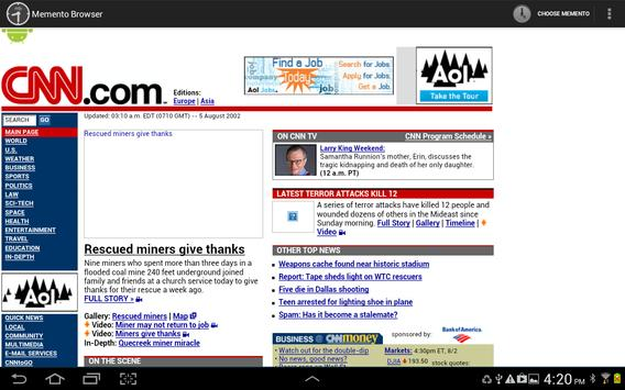 Memento Browser screenshot 1
