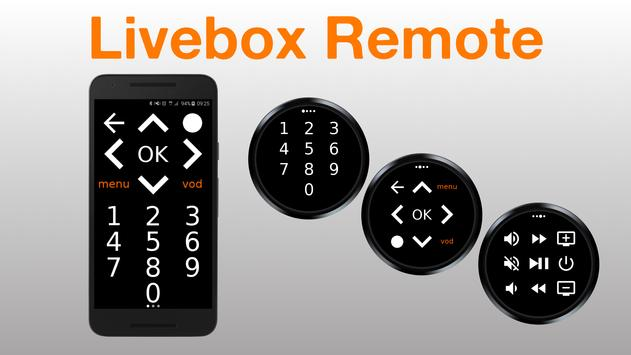 Poster Livebox Remote