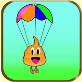 happy poo jump proo icon
