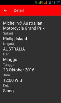 Jadwal motoGP 2016 apk screenshot