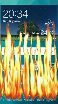 Fire Screen Ablaze Joke poster