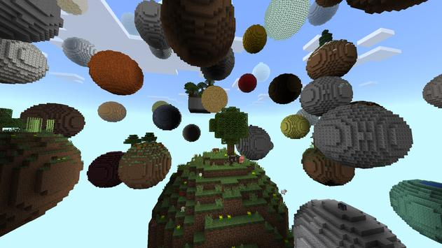 Skyblock Planet MCPE Map apk screenshot