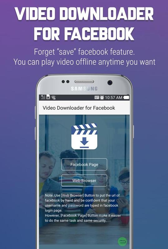 how to download facebook app videos