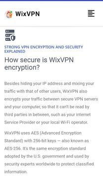 WixVPN screenshot 2