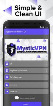 MysticVPN screenshot 1