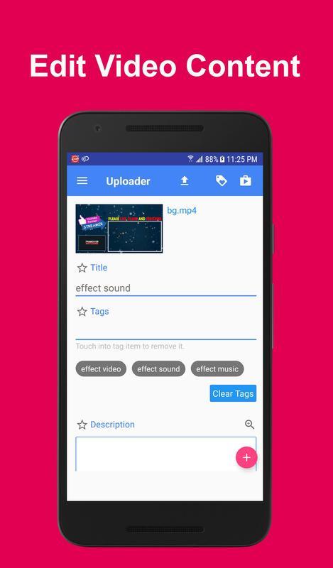 download youtube video uploader apk