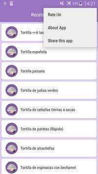 Recetas de Tortilla screenshot 2