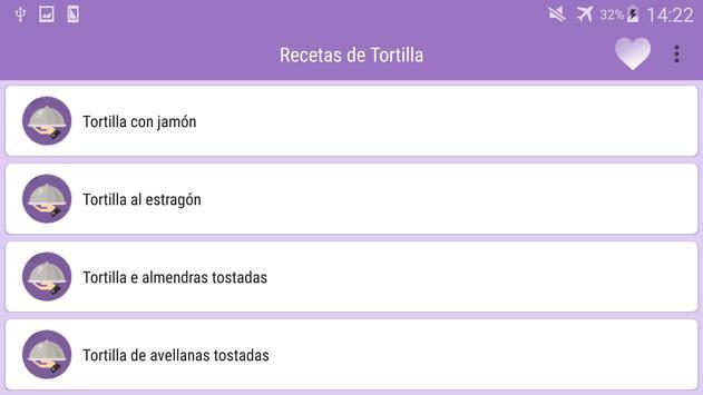 Recetas de Tortilla screenshot 5