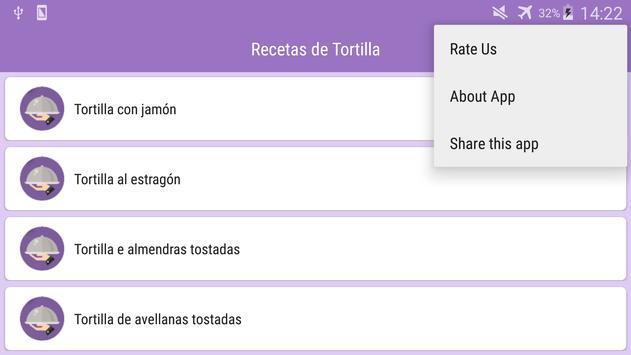 Recetas de Tortilla screenshot 6