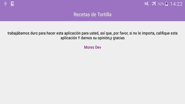 Recetas de Tortilla screenshot 7