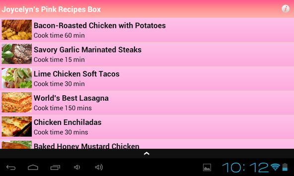 Joycelyn's Pink Recipes Box apk screenshot