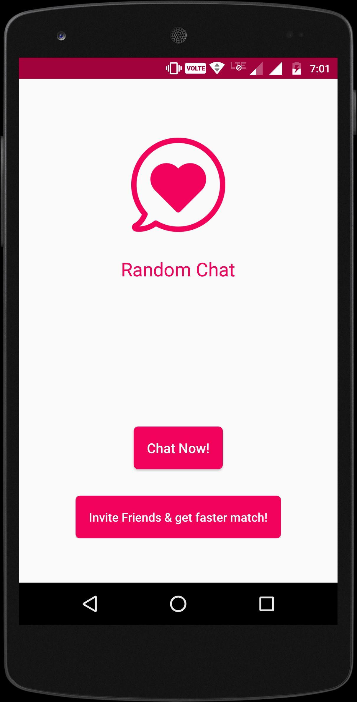 Android random chat app RandoChat