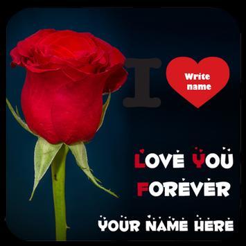 Write Text on Love photo 2018 Write Name On Heart poster