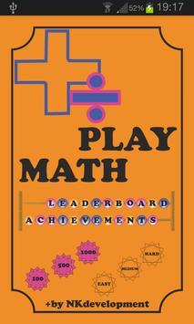 Play Math poster