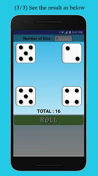 Dice Roller : 6-sided dice at your fingertips apk screenshot
