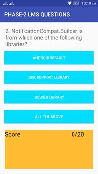 Phase -2 LMS Questions apk screenshot