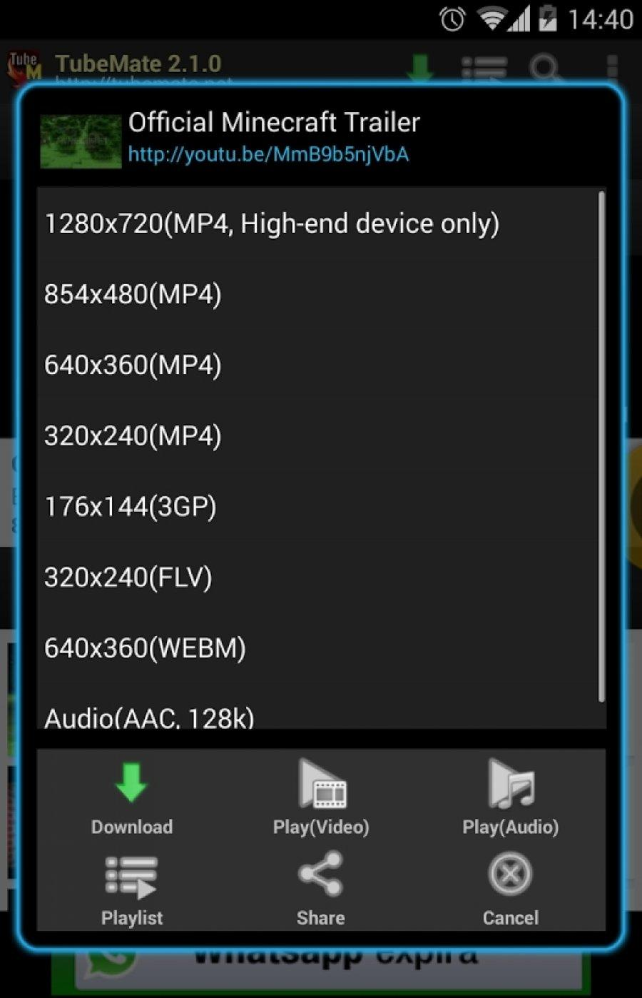 ANDROID TÉLÉCHARGER 2.3.5 TUBEMATE