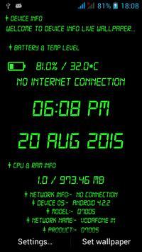 device info live wallpaper screenshot 2